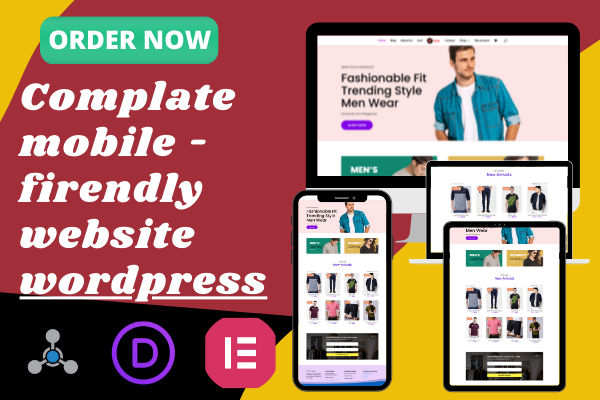 I will build fully responsive WordPress website design and customization
