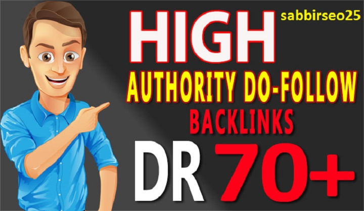 Make DR 70 plus with tf 50 plus 105 high quality dofollow SEO authority backlinks