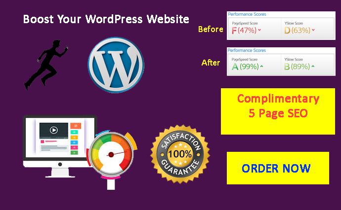 I will do WordPress website speed optimization, increase page speed Superfast