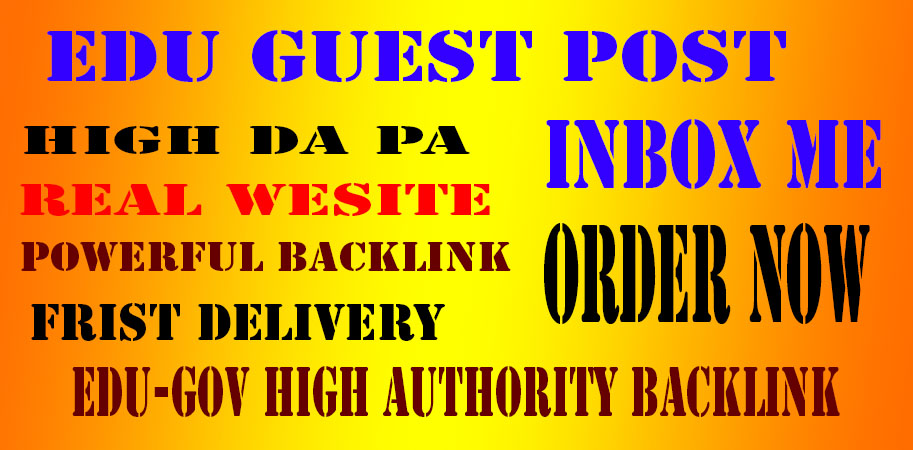 20 Edu-Gov High SEO Authority Backlink and high DA PA Website
