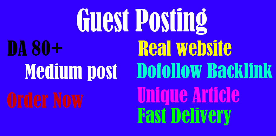 I will write guest post on medium DA 80 boost your website