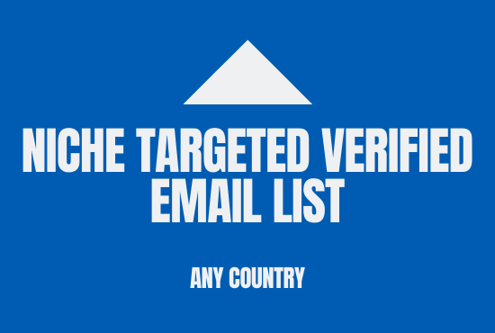 I will collect 2k niche targeted email list for any country