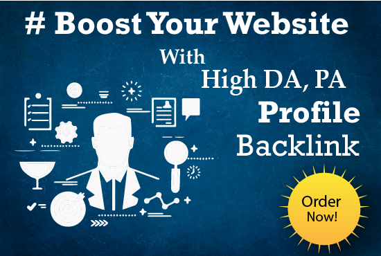 I will create 40 High Authority Profile Backlinks the boost your site