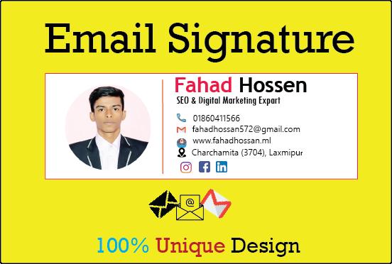 Create a professional Email signature