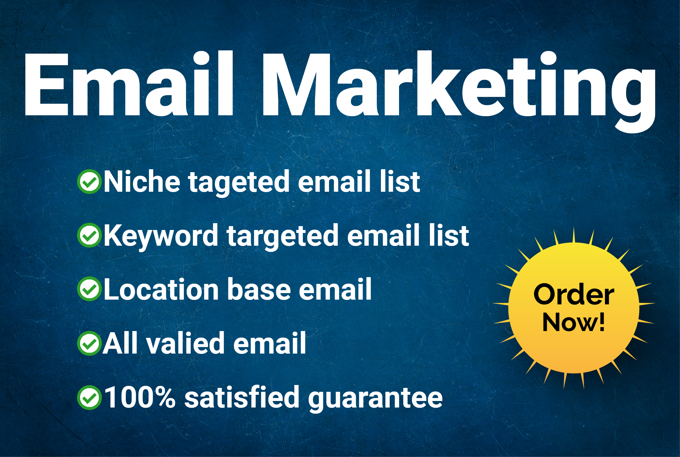 I will provide 10k niche target email list