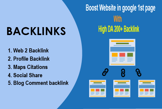 Rank your website in google 1st page with high DA 200+ backlink