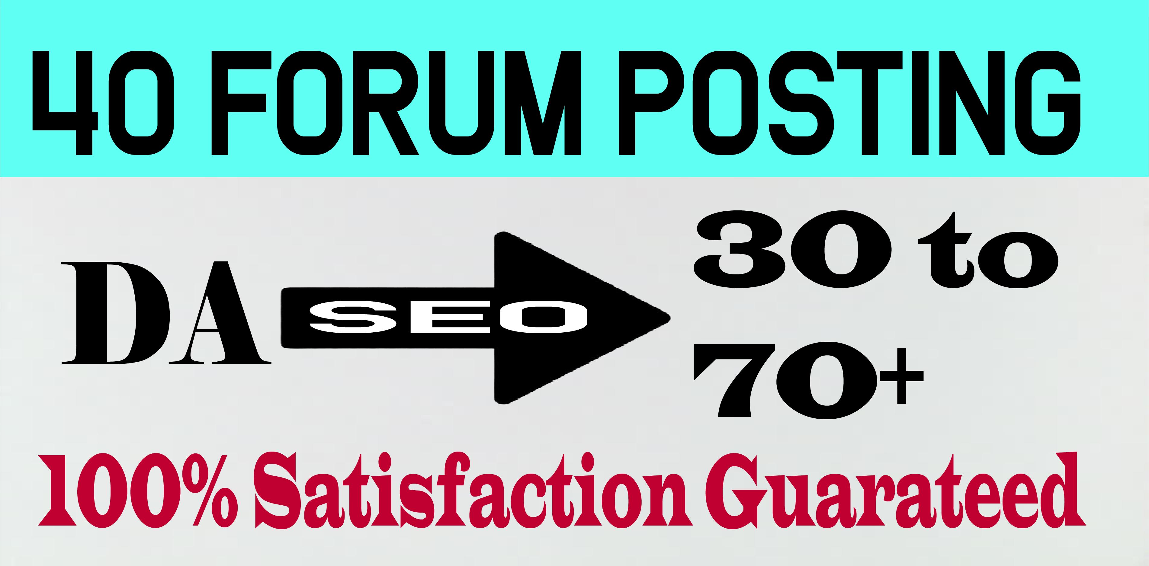 Make Forum Comment/Posting Backlinks High DA40+