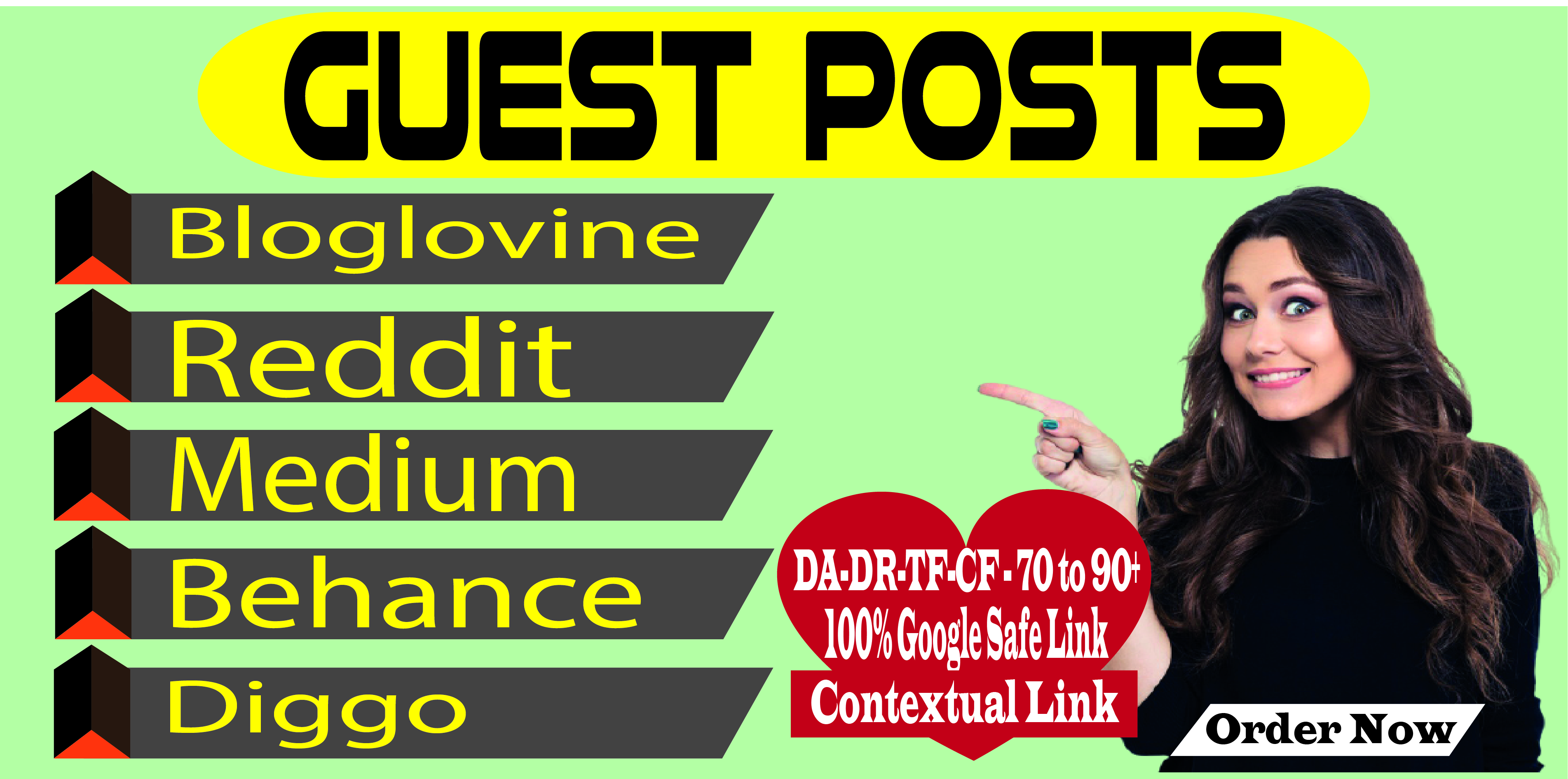 Publish Guest Posts on Multiple High Quality Sites DA 70 to 90+
