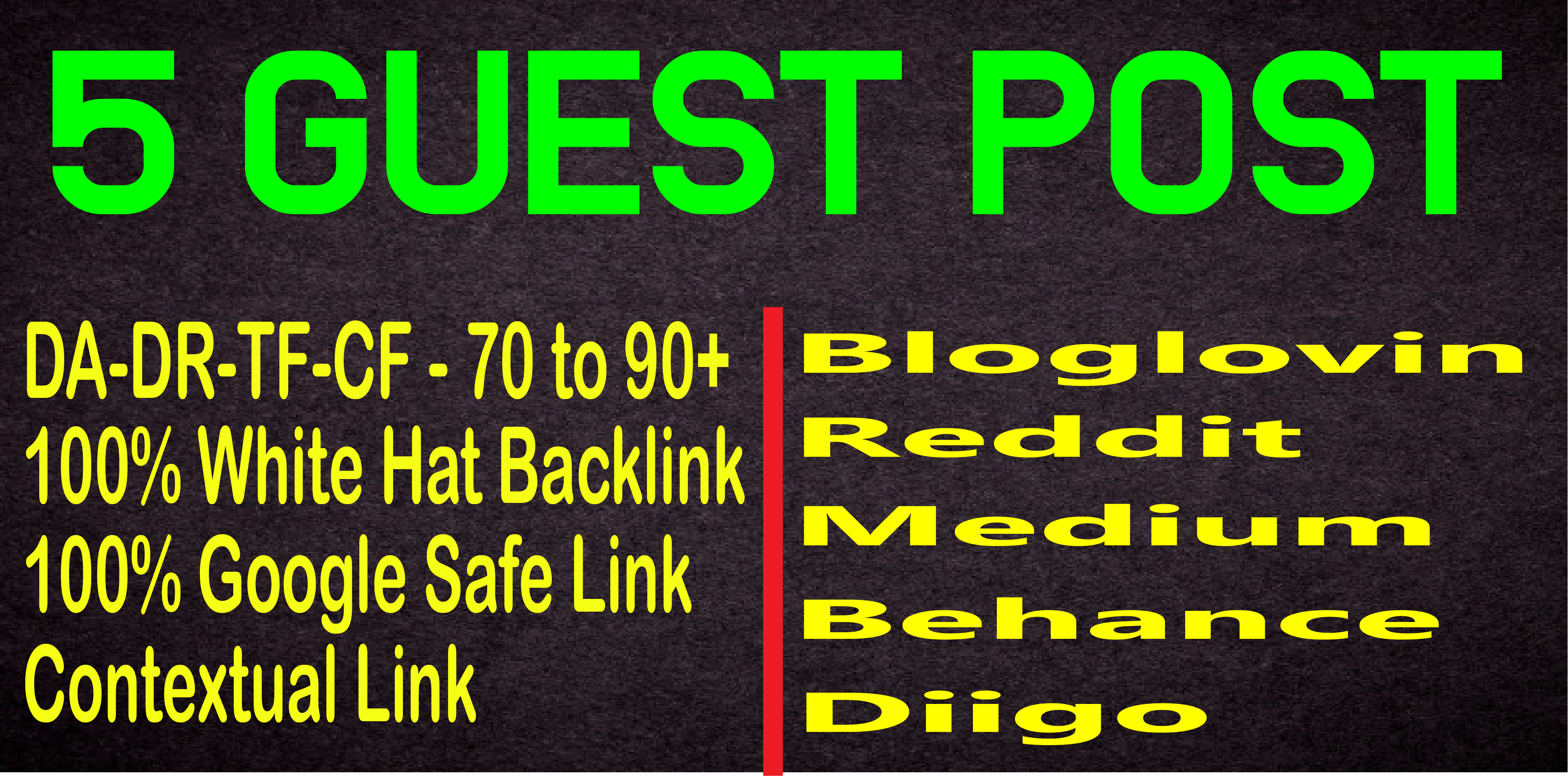 Publish Guest Post on Multiple High Quality Sites DA 80 to 90+