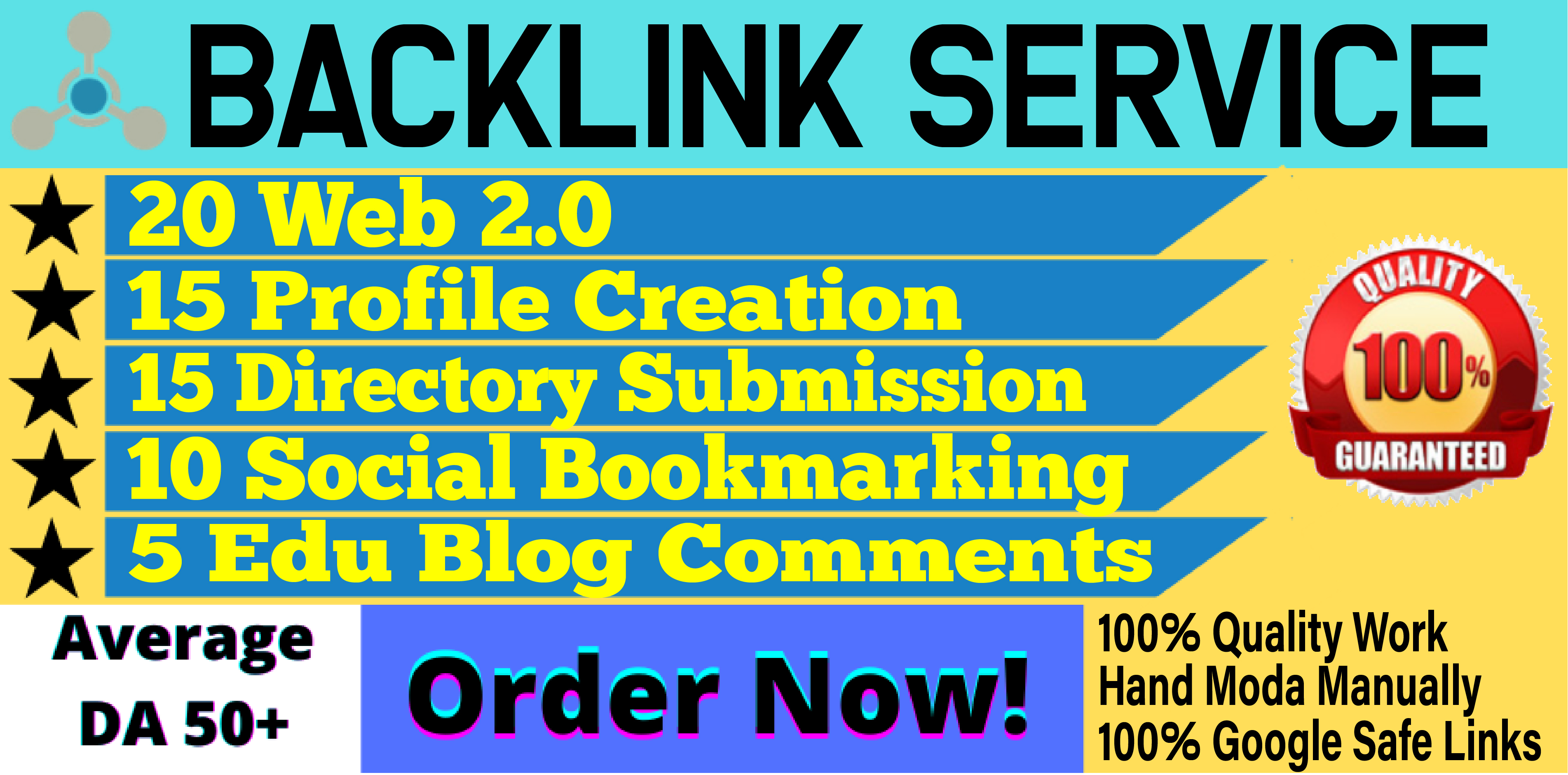 Perfect SEO Service - 65 Whitehat Authority Backlinks