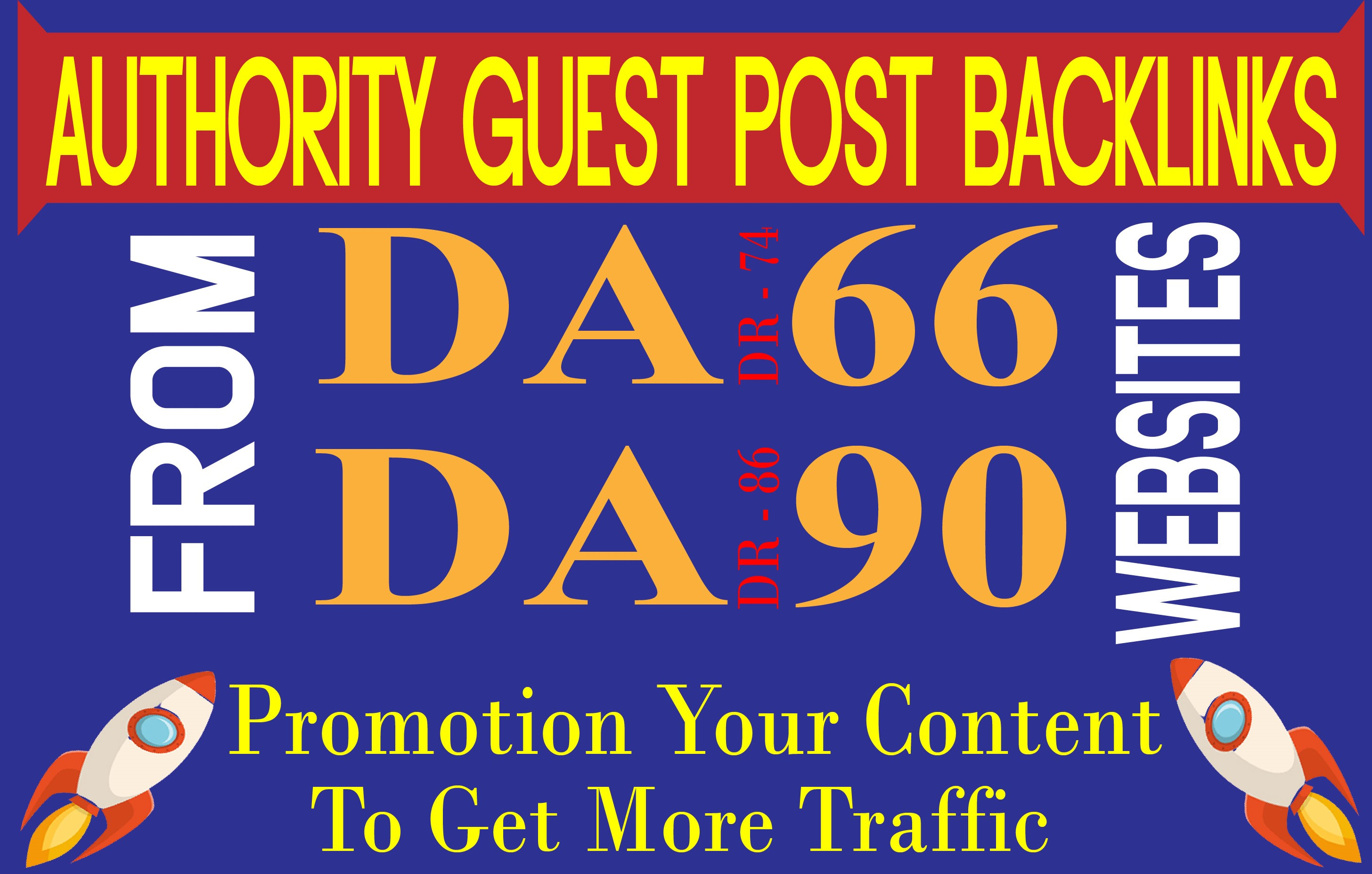 Publish Guest Post On High Authority Sites with Buy This Service Get 1 Free Link