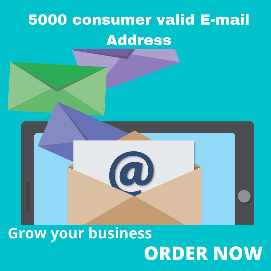 i will provide you 5000 consumer targeted email address