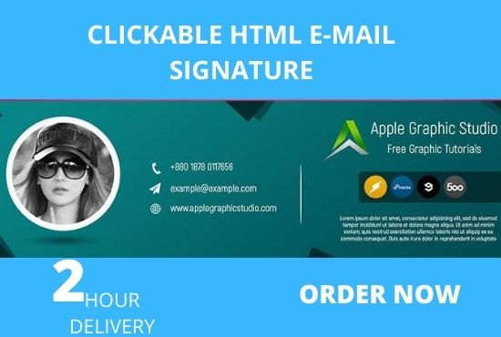 I will create Awesome Clickable HTML signature for your e-mail client