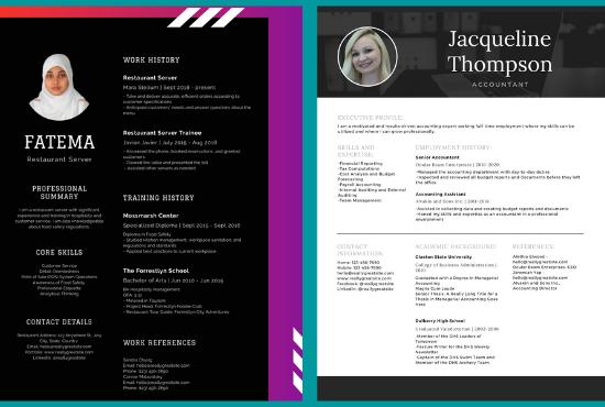 I will make professional graphics design resume and cv