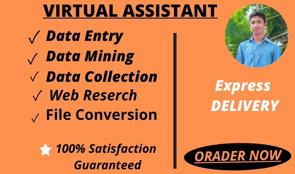 I will do Online or Ofline Data Entry,  Web Reserach, Copy and Paste As A VIRTUAL ASSISTANT
