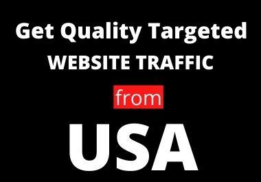 I will send 30 days unlimited USA web traffic, real organic web visitor