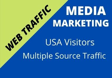 I will send 30 days unlimited USA web traffic,  real organic web visitor