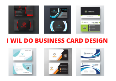 I will do single double-sided unique business card design