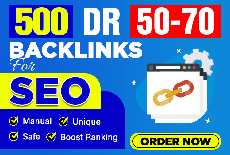I will make 10 DR 50 to 70 high authority homepage backlinks for seo