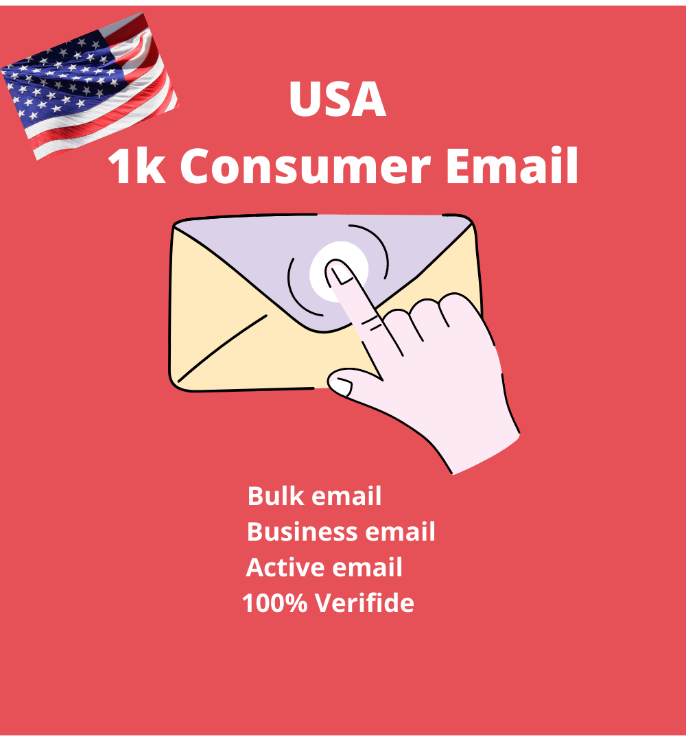 I will provide 1k USA consumer email for you