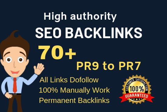 I will do 90+ DA high quality dofollow 100 profile backlinks