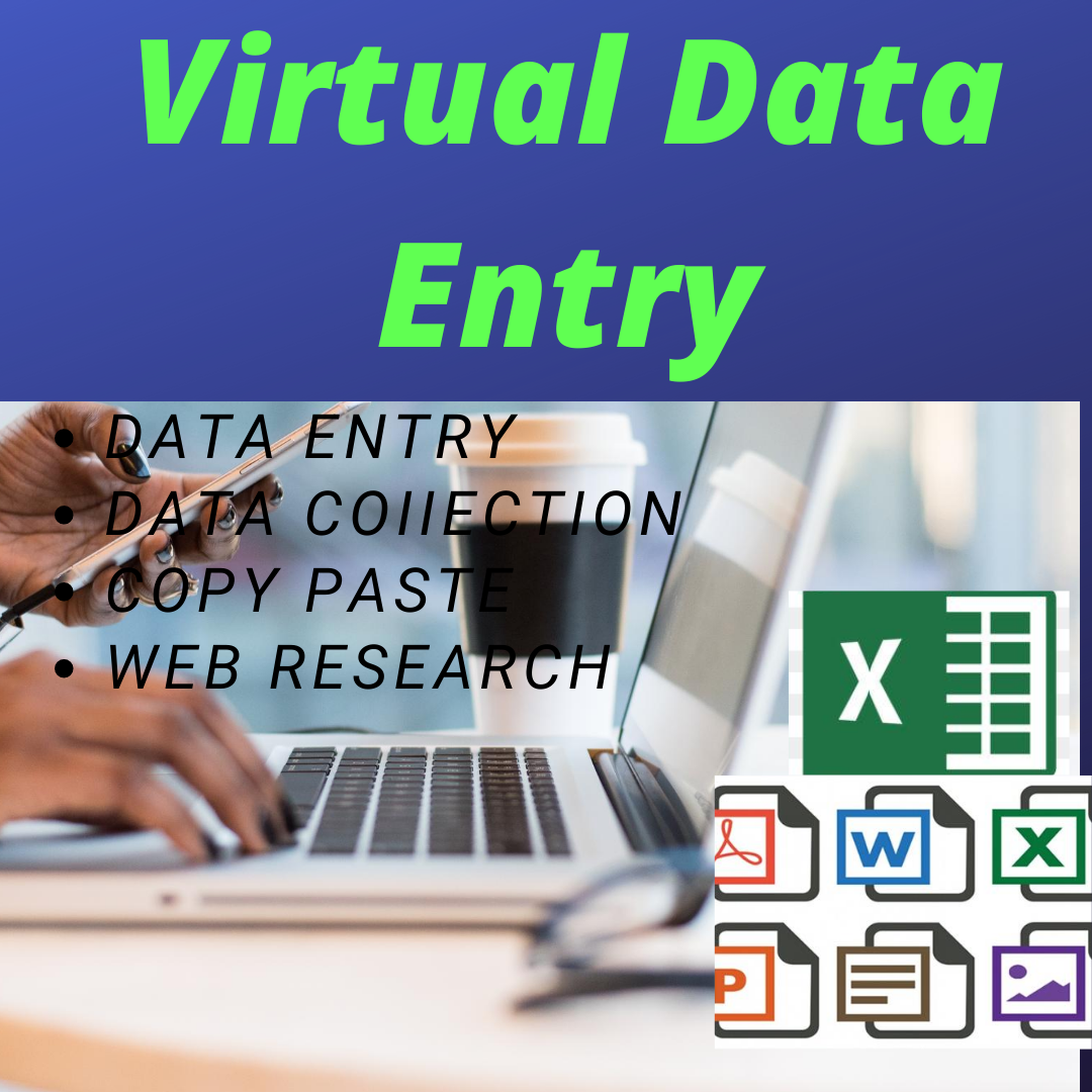 I Will do data entry,  data collection,  web research
