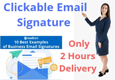 I Will Create a Professional Clickable Email Signature.
