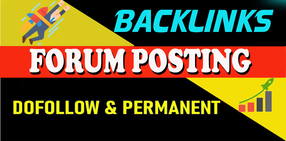 I will Provide Manually 40 HQ DofoIIow Forum Posting SEO Backlink