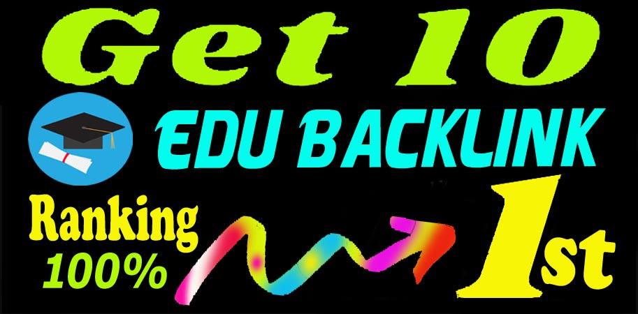 Create Manually 10 Edu Backlinks on High DA Site