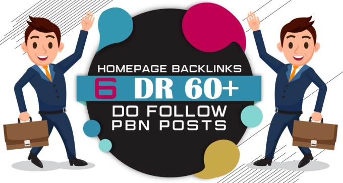 I will build 6 manual high dr 60 plus homepage pbn dofollow contextual backlinks