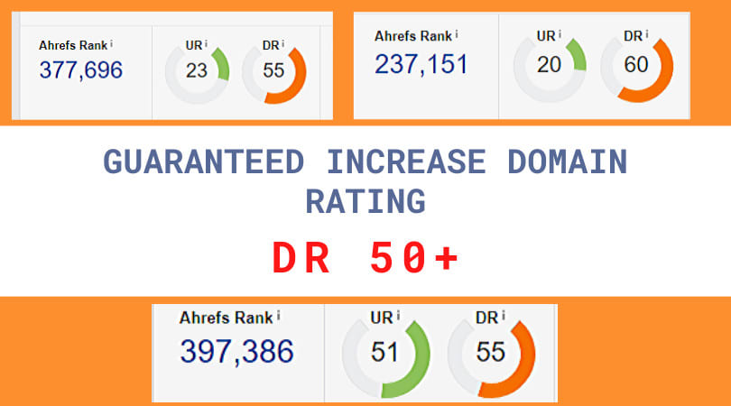 I'll increase AHREF domain rating to 50 plus guaranteed in 10 days
