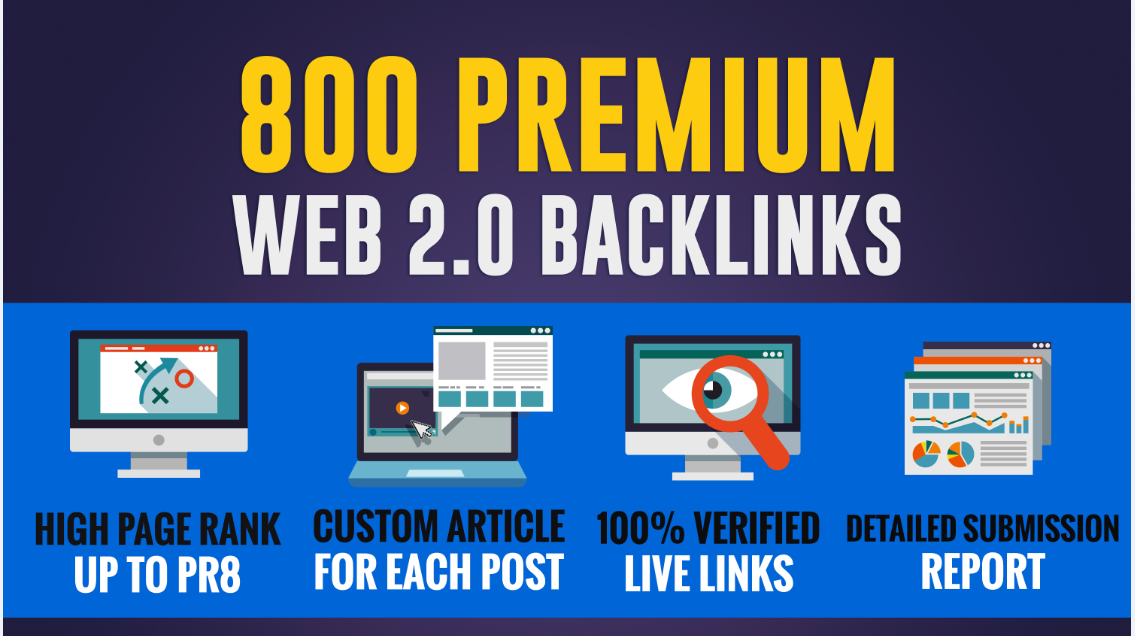 Provide 800 web2.0 bcklinks from various blogging and micro blogging website