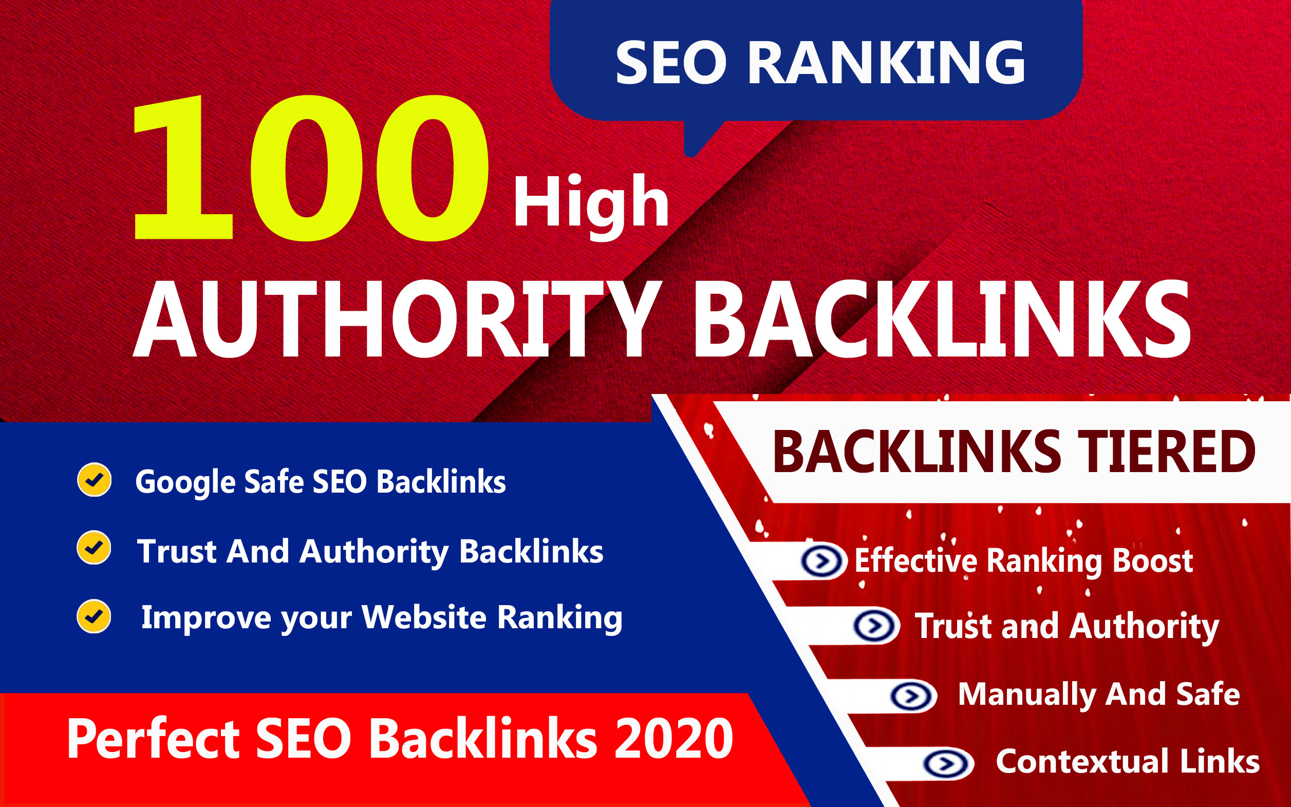 Google 1st Rank With Boost High Authority 100 Unique Backlink
