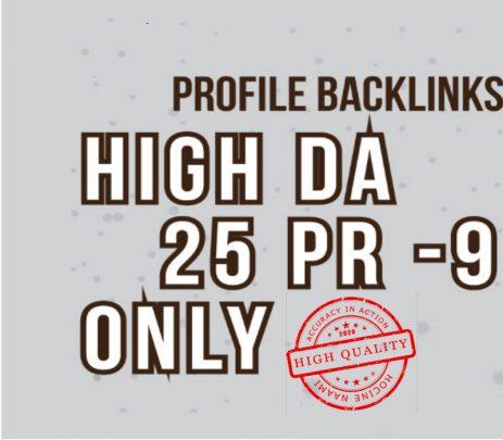 Create Manually 25 High DA 80+ Pr7-Pr9 Backlink For Improve Your Ranking On Google