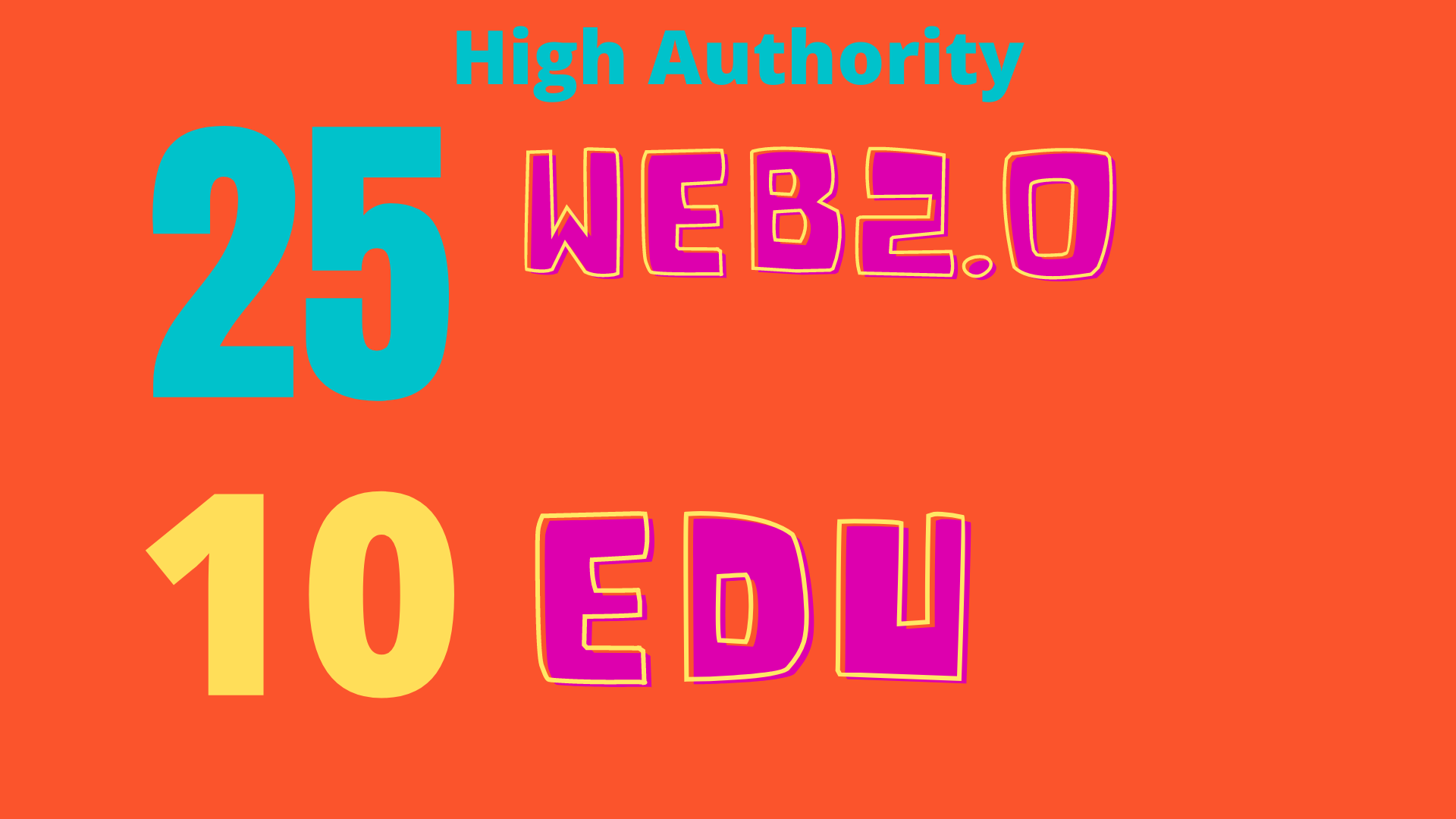 Limited time offer-Authentic High DA90-80+ Backlinks 25 web2.0 and 10 EDU/GOV TOP RANKING SEO