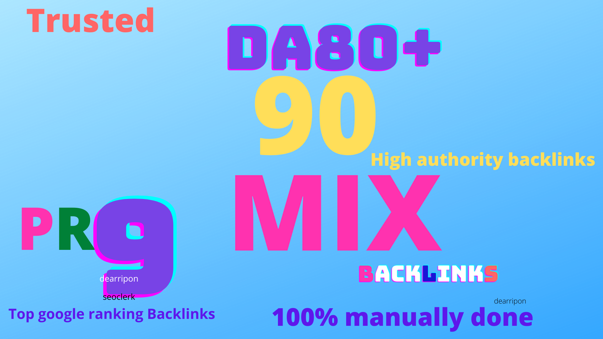 limited time offer-90 Mixed backlinks DA 80+Permanent Natural High quality Do-follow Link building