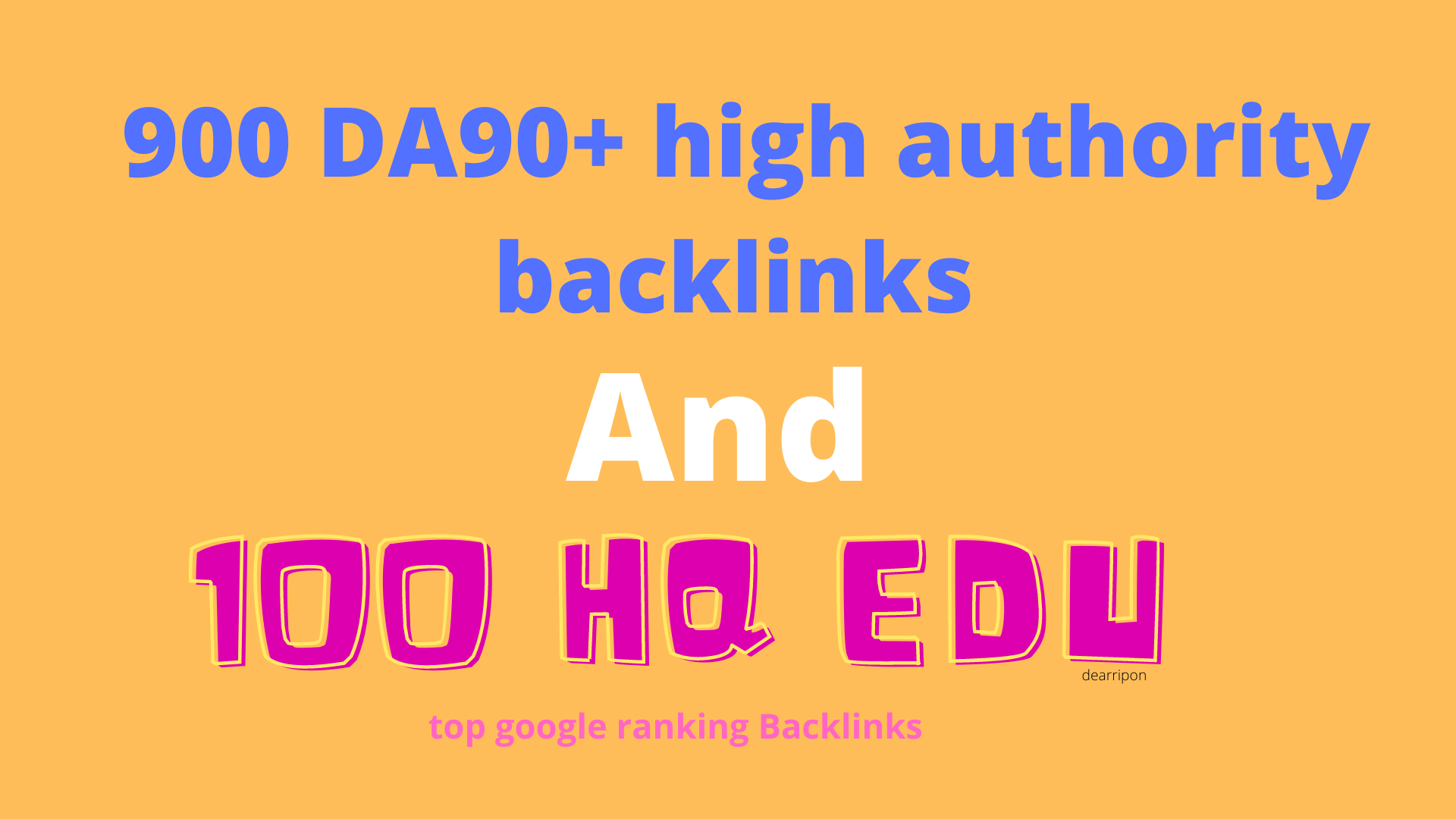 provide high authority 900 DA 90+and 100 Edu Gov exclusive Backlinks fast ranking