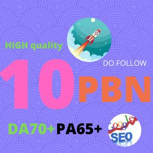 Create 10 High Quality PA DA TF CF DO FOLLOW PBN back-links
