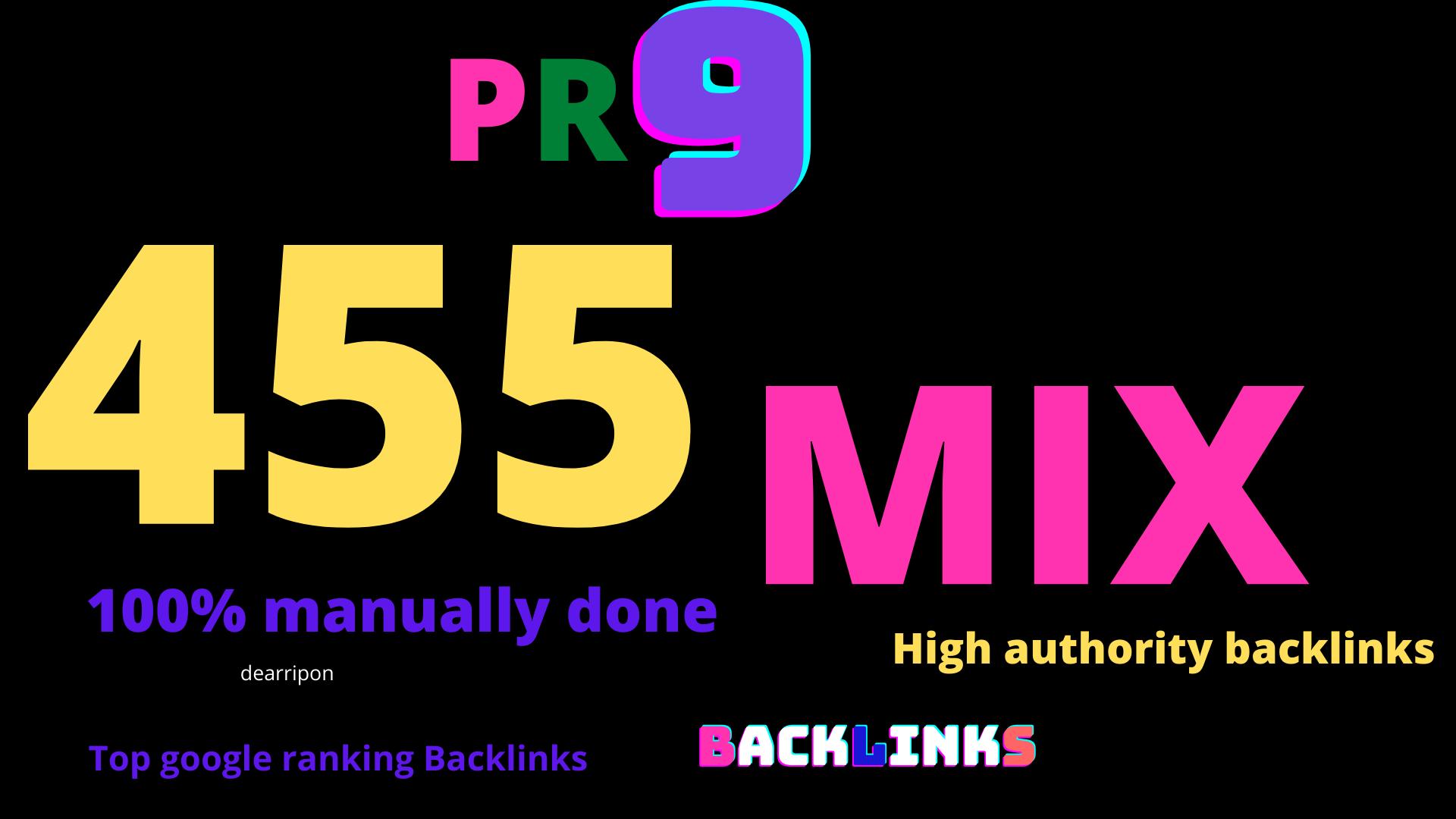 Google Top ranking 455 manually DA90+Web 2.0, Gov,  blog comment, Article, pr0file backlink