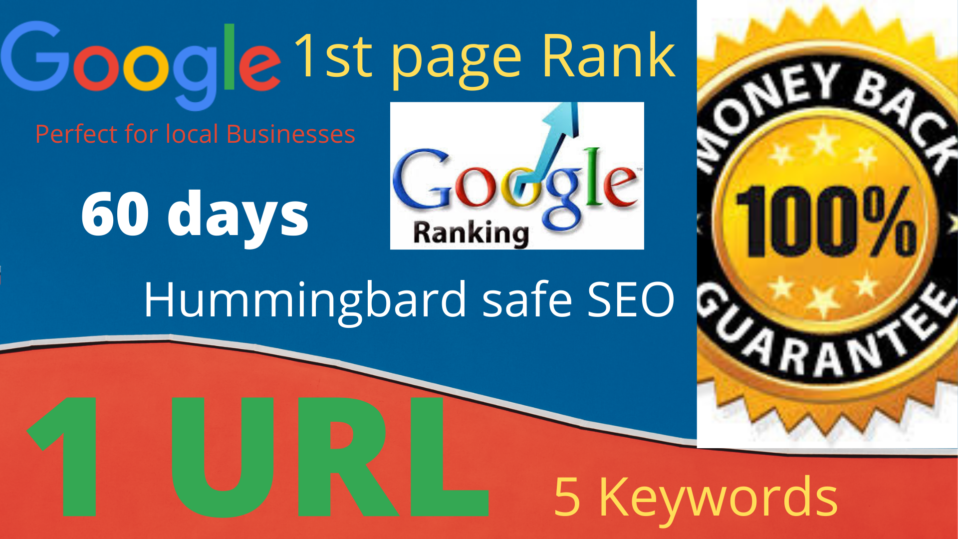 I will complete 2 month SEO service for Rank Your website on 1st Page of Google