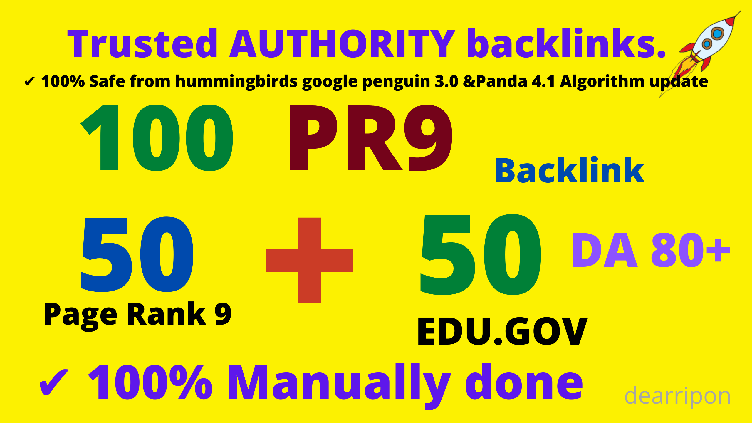 Exclusively-DA80+100 Backlinks 50 PR9+50 EDU High Quality SEO Permanent Links