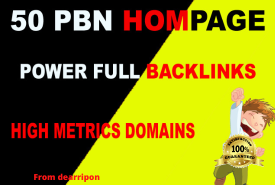 Exclusive 50 High PA TF/CF/DA40+ Homepage PBN Backlink
