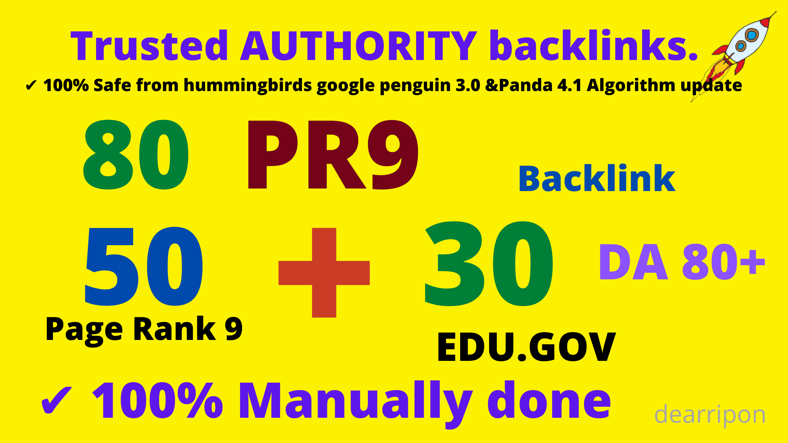 limited time-80 Backlinks 50 web2.0 and 30 EDU/GOV DA80+ High Quality SEO Permanent Links