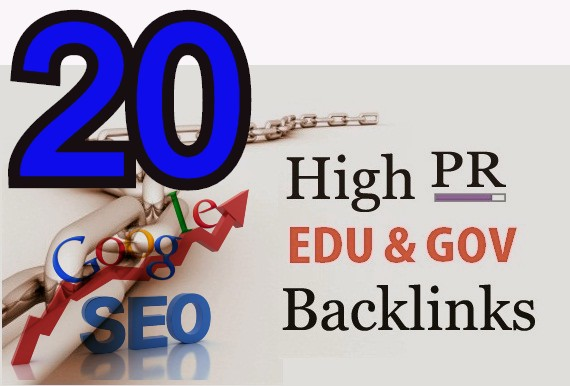 I Will DO High PR 20 EDU-GOV Backlinks