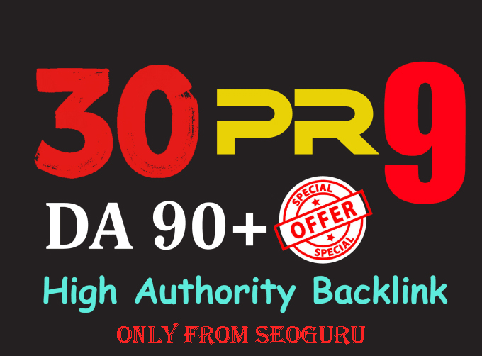 Manually Do 30 Pr9 DA 80+ Safe SEO High Authority Backlink 30+ Domain HIGH QUALITY BACKLINKS