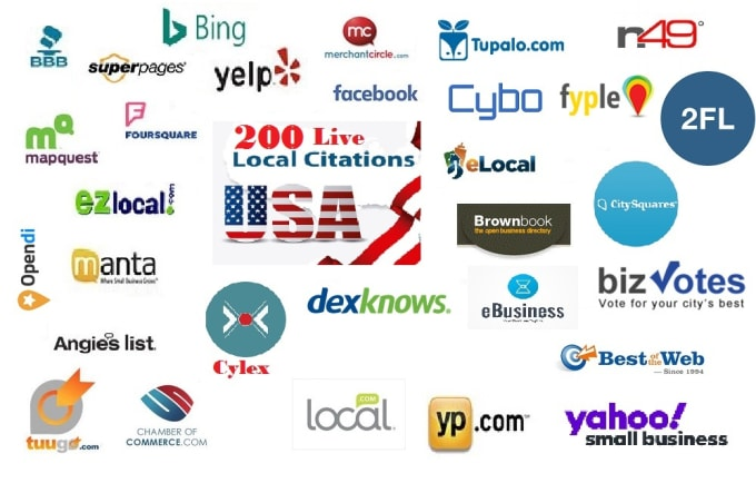 I will do 200 live local citations,  business listing