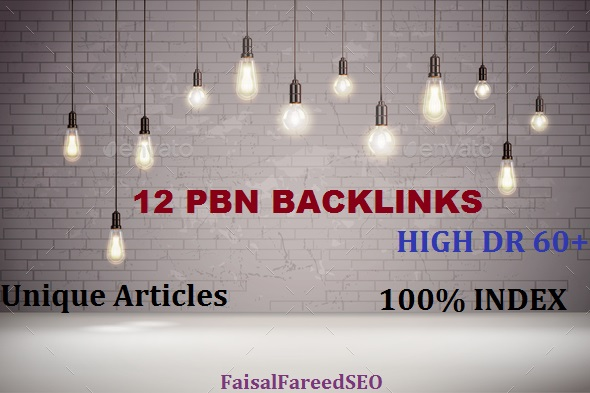 Get 12 DR 60 to 50+ permanent homepage high quality pbn backlinks