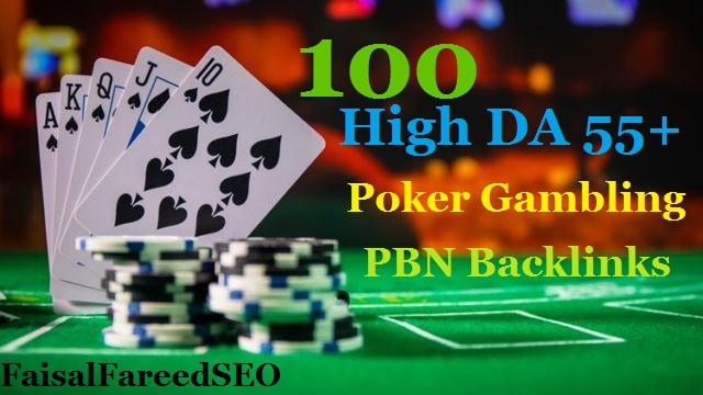 Get 100 permanent DA 55+ PBN backlinks Casino,  Gambling,  Poker,  Judi Related High DA websites