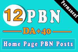 12 high da 30 to 40 homepage high quality pbn backlinks