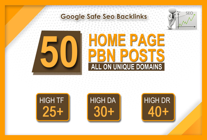 50 high da 30 to 40 homepage high quality pbn backlinks
